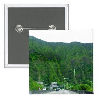 Carretera H3 a través de las montañas de Ko'olau Pin Cuadrada 5 Cm