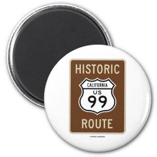 Carretera histórica 99 California de los E E U U Imanes De Nevera