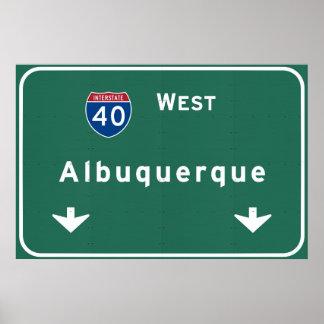 Carretera nacional de Albuquerque New México Póster