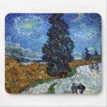 Carretera nacional de Van Gogh en Provence por noc Tapete De Raton