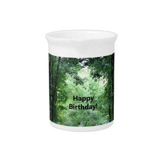 Carretera nacional del feliz cumpleaños jarrones