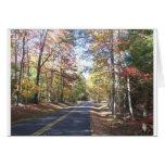 Carretera nacional del otoño felicitación