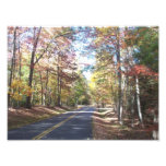 Carretera nacional del otoño fotos