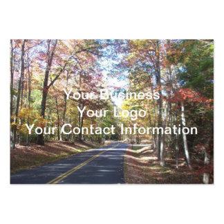 Carretera nacional del otoño plantilla de tarjeta de visita