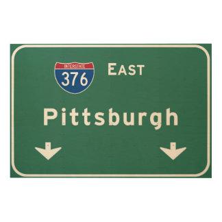 Carretera nacional del PA de Pittsburgh Cuadro De Madera