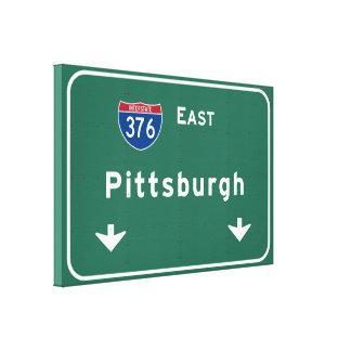 Carretera nacional del PA de Pittsburgh Impresión En Lona