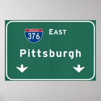 Carretera nacional del PA de Pittsburgh Póster