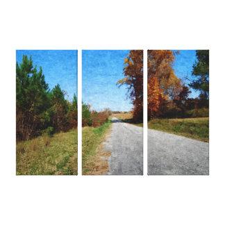 Carretera nacional en otoño impresión en lona