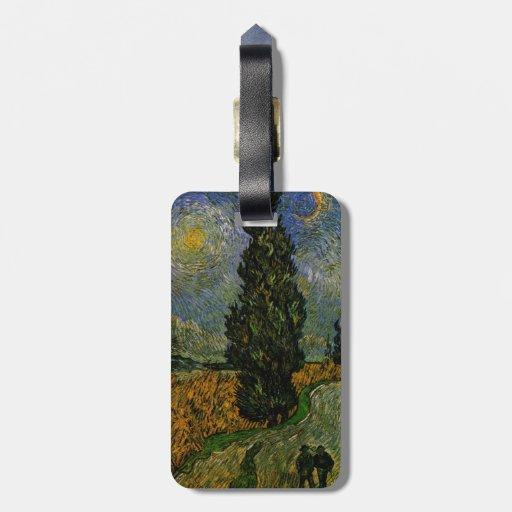 Carretera nacional en Provence - Van Gogh Etiqueta De Equipaje