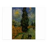 Carretera nacional en Provence - Van Gogh Tarjetas Postales