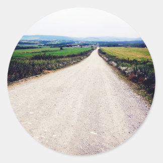 Carretera nacional pegatina redonda