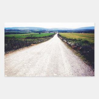 Carretera nacional rectangular pegatinas