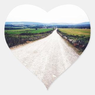 Carretera nacional calcomanía de corazón personalizadas
