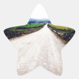 Carretera nacional calcomanía forma de estrella personalizadas