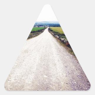 Carretera nacional pegatina trianguloada