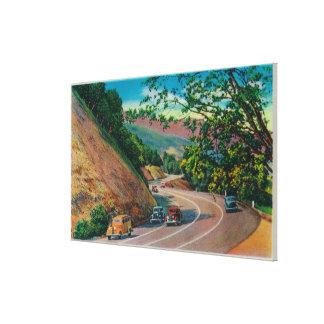 Carretera pintoresca del Los Gatos cerca de Santa  Impresiones De Lienzo