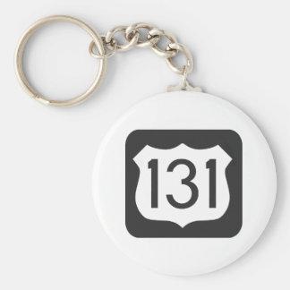 Carretera US-131 Llavero Redondo Tipo Pin