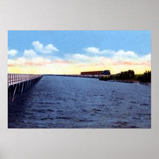 Carretera y ferrocarril de ultramar de Key West la Póster