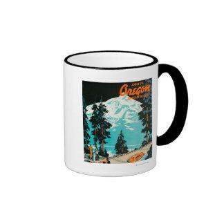 Carreteras de Oregon que hacen publicidad del post Tazas De Café
