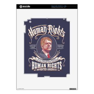 Carretero - derechos humanos calcomanía para el iPad 2