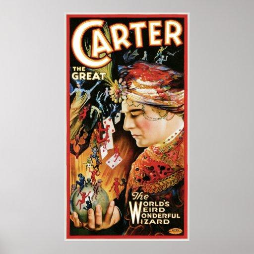 Carretero el acto mágico del gran del ~ vintage de póster