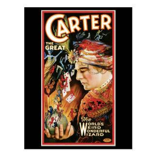 Carretero el acto mágico del gran del ~ vintage de postales