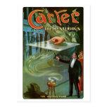 Carretero el acto mágico del vintage misterioso de tarjeta postal