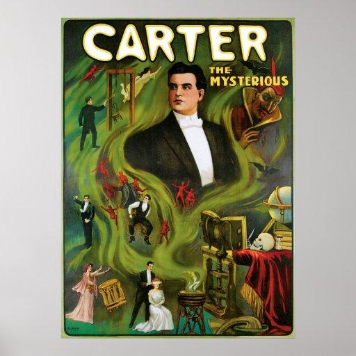 Carretero el acto mágico del vintage misterioso póster