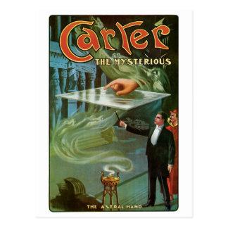 Carretero el acto mágico del vintage misterioso postal