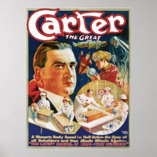 Carretero el gran ~ el acto mágico del vintage de póster