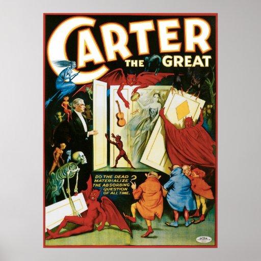 Carretero el gran ~ el acto mágico del vintage póster