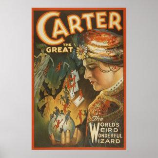 Carretero el grande - el mago extraño del mundo póster