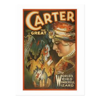 Carretero el grande - el mago extraño del mundo tarjeta postal