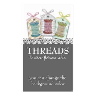 Carretes de encargo del color de la costurera de tarjetas de visita