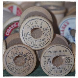 Carretes de madera servilletas imprimidas