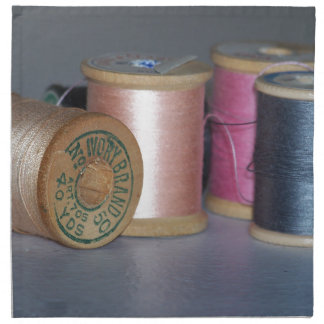 Carretes del vintage del hilo servilletas