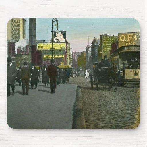 Carretilla 1900 de New York City del vintage Alfombrilla De Ratón