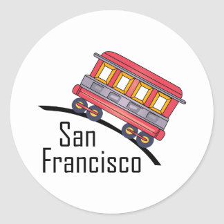 carretilla de San Francisco Pegatina Redonda