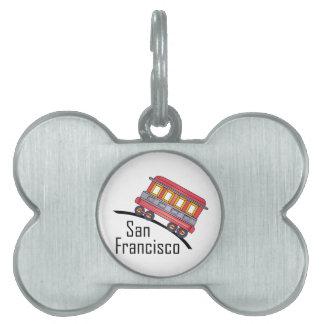 carretilla de San Francisco Placa Mascota