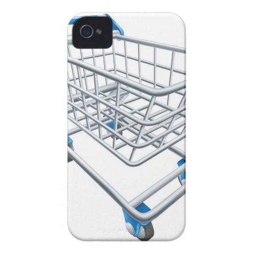 Carretilla del carro de la compra del supermercado iPhone 4 fundas