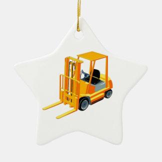 Carretilla elevadora (a.k.a. camión de adorno navideño de cerámica en forma de estrella