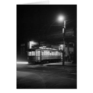 Carretilla en Night, 1943 Tarjeta De Felicitación