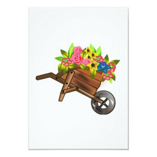 Carretilla por completo de flores invitación