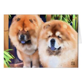 CARRETÓN y perro chino FANTASMAGÓRICO del heARTdog Tarjeta De Felicitación