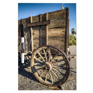 Carri del wreth de la entrada del rancho de la pizarra blanca