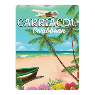 Carriacou travel poster card