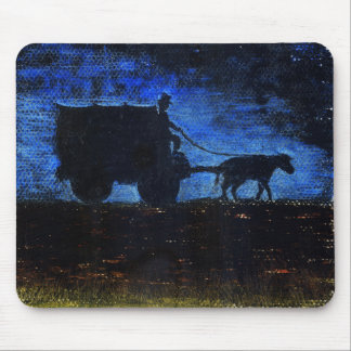 Carriage at dusk mouse pad