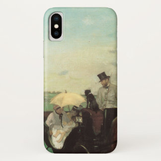 Carriage at the Races by Edgar Degas, Vintage Art iPhone X Case