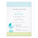 Carriage Baby Shower Invitation  |  Boy