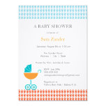 Carriage Baby Shower Invitation  |  Boy